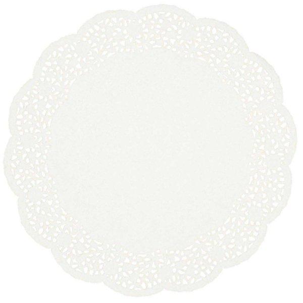 Rico Design Tortenspitze weiß 32cm 12 Stück