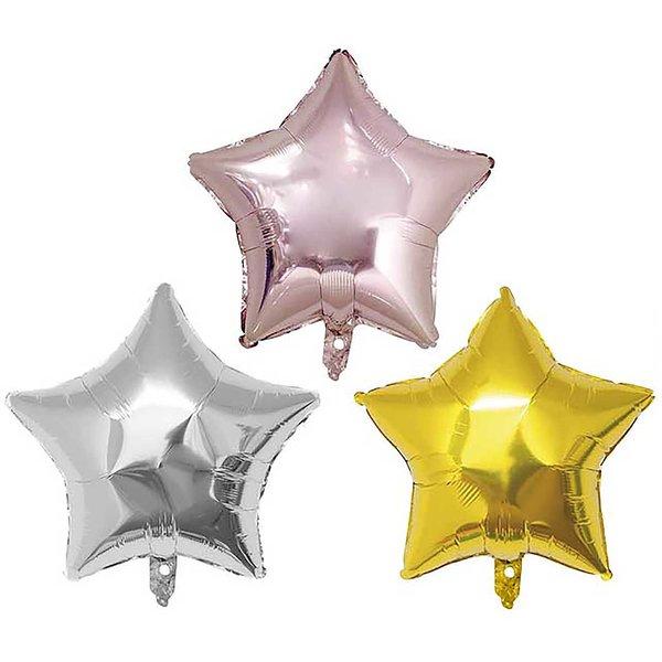 YEY! Let's Party Folienballon Stern 36cm