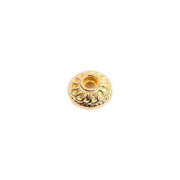 Rico Design Käppchen geriffelt gold 7x3mm 30 Stück