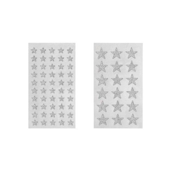 Paper Poetry Sticker Sterne Glitter silber 4 Blatt