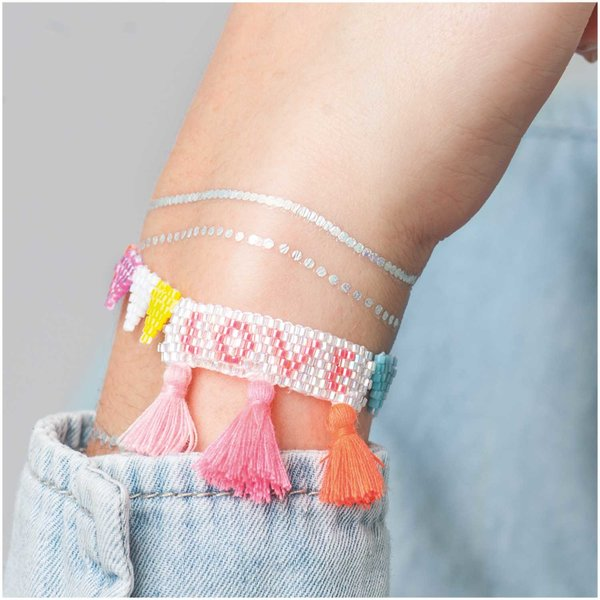 Jewellery Made by Me Brick Stitch Set Love Armband 180x25mm