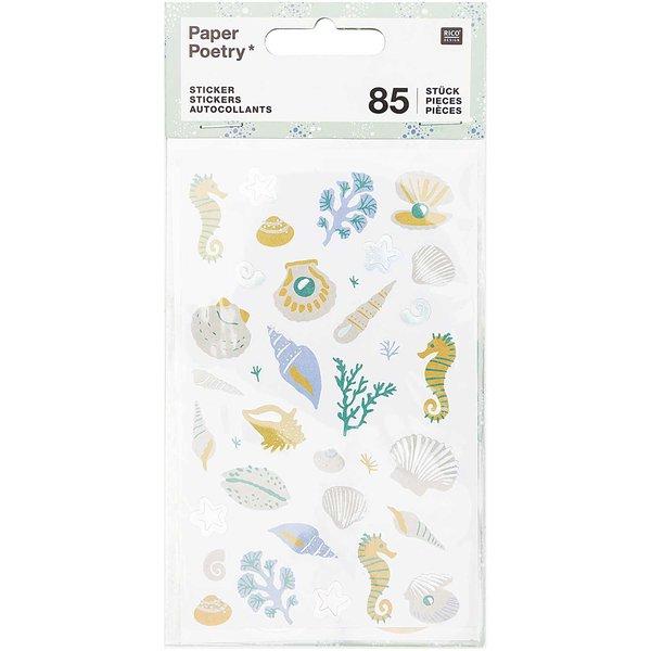 Paper Poetry Sticker Mermaid Muscheln 85 Stück