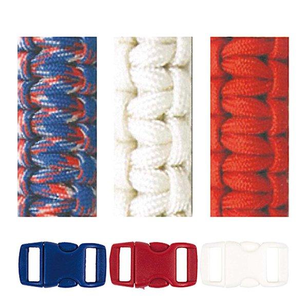 Jewellery Made by Me Paracord Set weiß-rot-blau 2mm 6teilig
