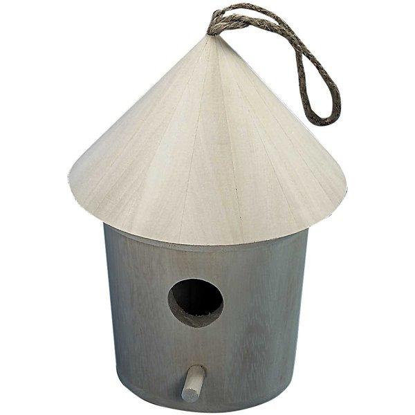 Rico Design Deko Vogelhäuschen mit Dach 12,5x18cm