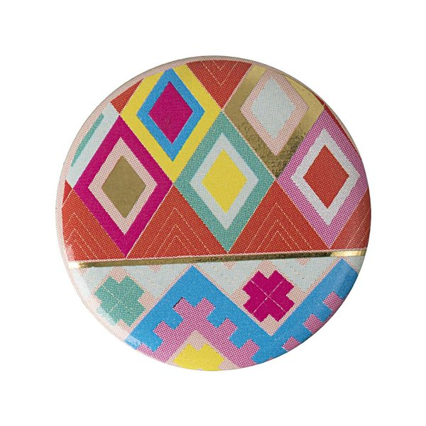 Jewellery Made by Me Button peruanisches Muster 25mm Hot Foil
