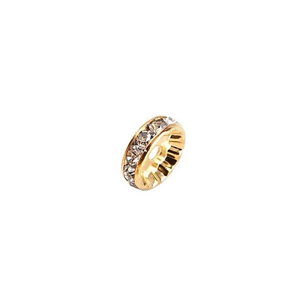 Rico Design Strassrondell glatt gold 8mm 6 Stück