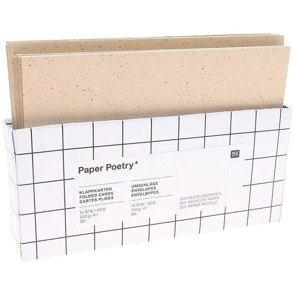Paper Poetry Kartenset cappuccino B6/B6 20teilig