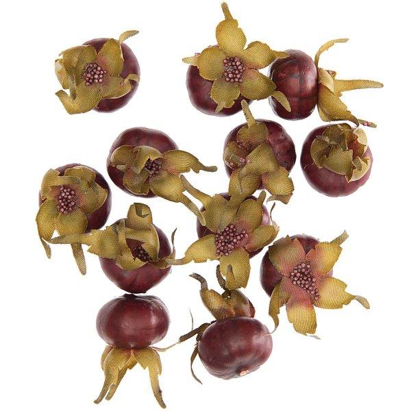 Hagebuttenfrüchte rot/grün 12 Stück