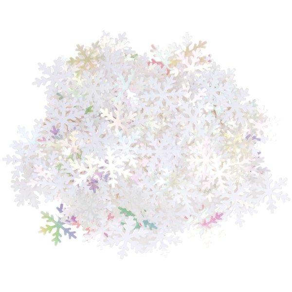 Ohhh! Lovely! Flitterstreu Schneeflocke weiß-irisierend 14x16mm 200 Stück