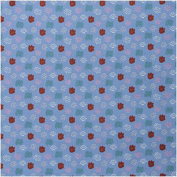 Rico Design Druckstoff grafisches Muster blau 50x140cm
