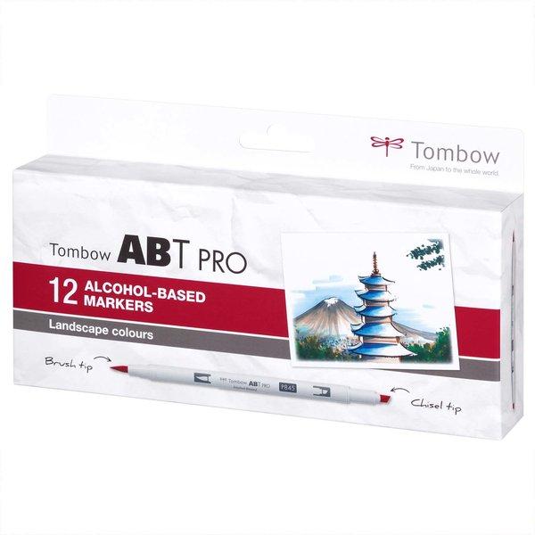 Tombow ABT PRO Landscape Colours Alkoholbasierte Marker 12teilig