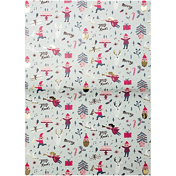 Rico Design Paper Patch Papier Klassik Jolly Christmas 30x42cm