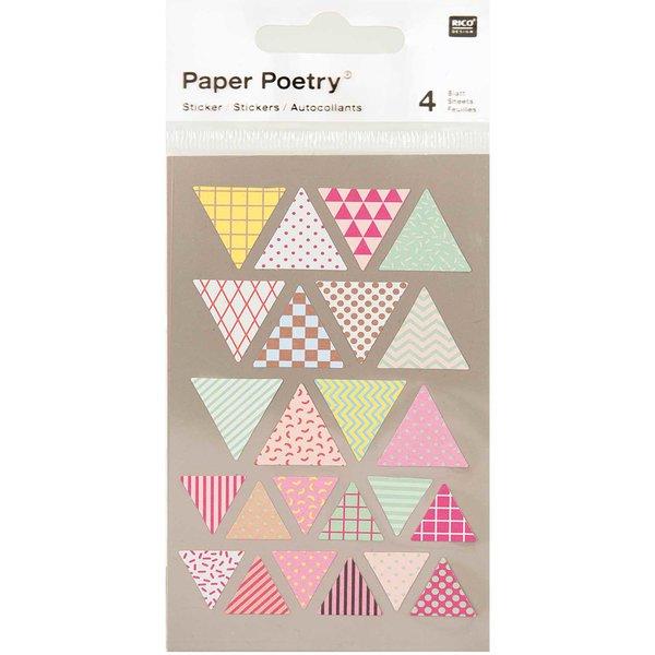 Paper Poetry Sticker Wimpel mehrfarbig 4 Bogen