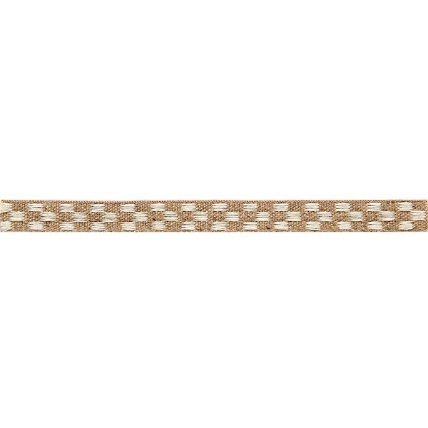 Rico Design Ribbon kariert natur-weiß 2m