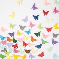 Anleitung Origami Schmetterlinge falten