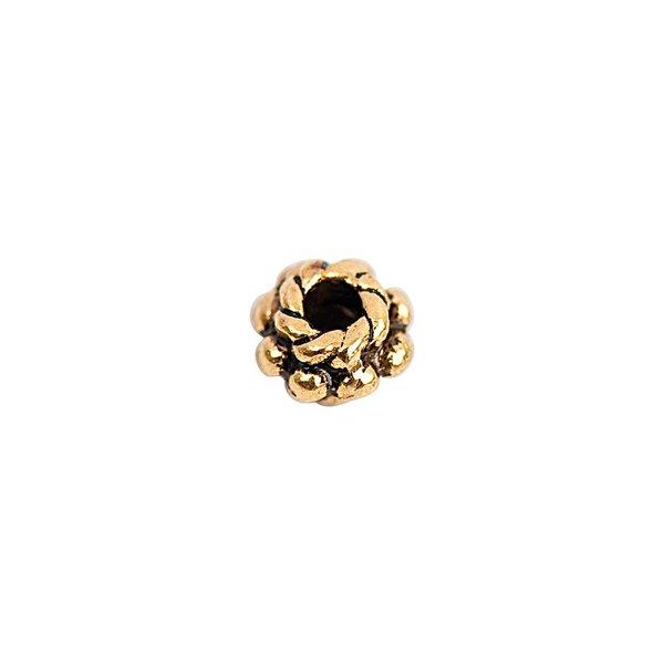 Rico Design Perle flach schwarz-gold 6mm 30 Stück