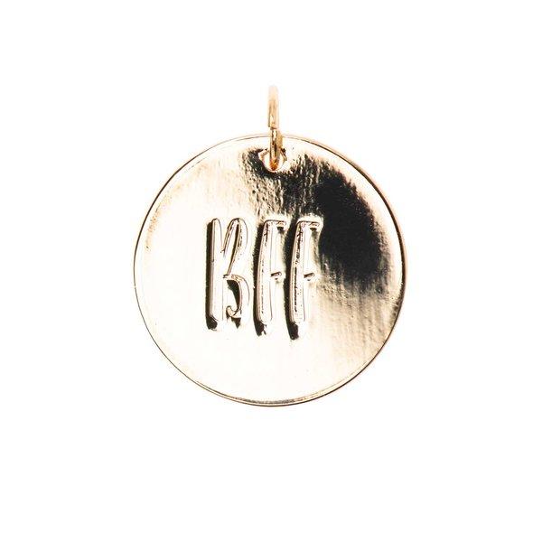 Mix it Up - Jewellery Anhänger Scheibe BFF gold Ø17mm