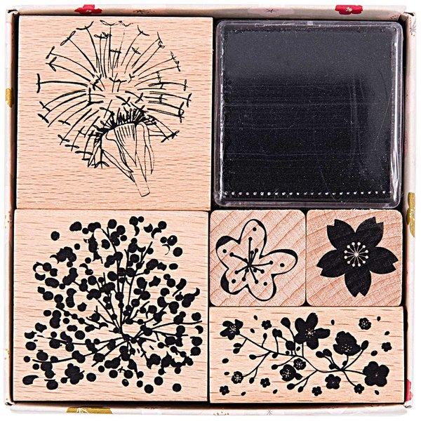 Paper Poetry Stempelset Bouquet Sauvage 5 Stück