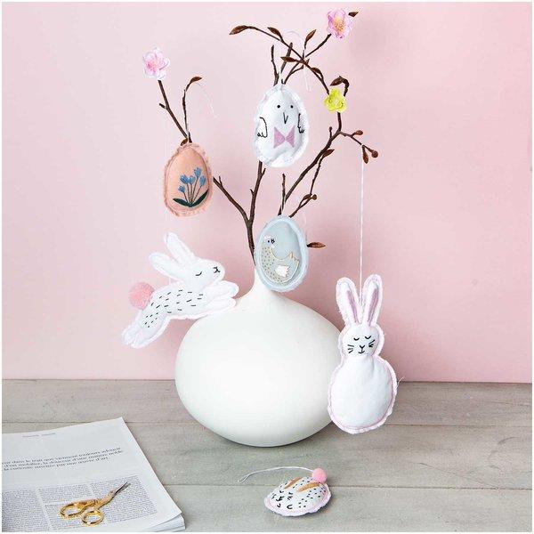Made by Me Stickpackung Bunny Hop für 6  Anhänger