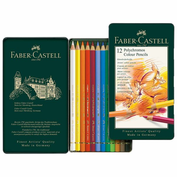 Faber Castell Polychromos Metalletui 12teilig