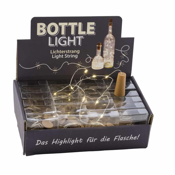 10er LED-Lichterkette Bottle Light mit Korken 1m