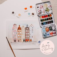 Anleitung Urban Watercoloring mit May & Berry