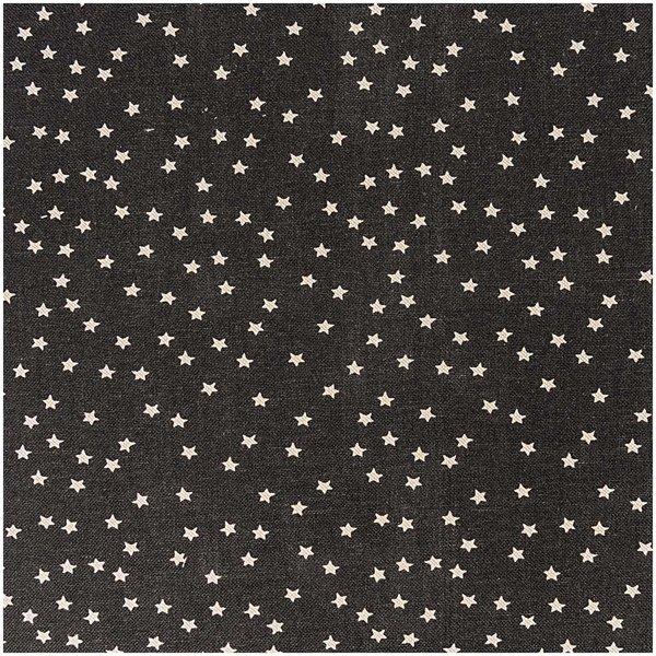 Rico Design Stoff Sterne schwarz-natur 140cm