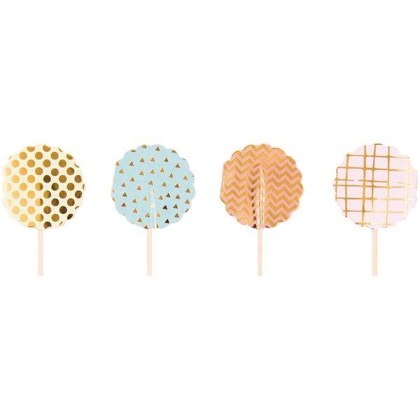 Rico Design Deko Picker mehrfarbig 24 Stück Hot Foil