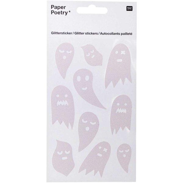 Paper Poetry Glittersticker Geister