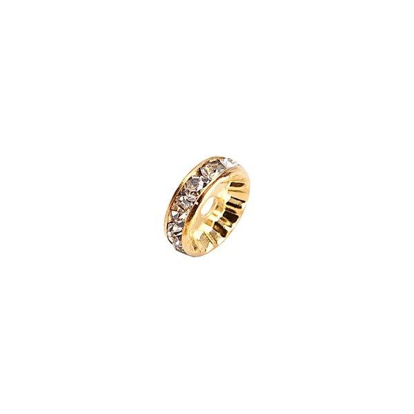 Rico Design Strassrondell glatt gold 6mm 6 Stück