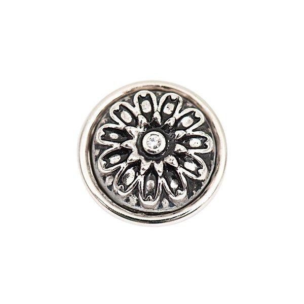 Rico Design Knopf Ornament silber 14mm