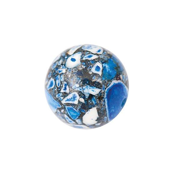 Jewellery Made by Me Kugel blau marmoriert 12mm Halbedelstein 2 Stück