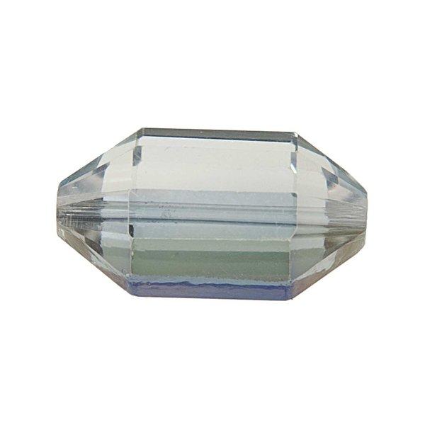 Jewellery Made by Me Perle geschliffen oval irisierend 21x12mm Glas 2 Stück