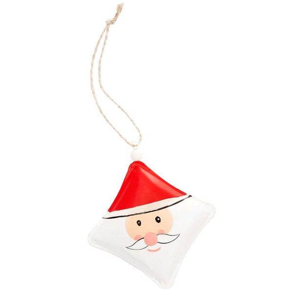 Ohhh! Lovely! Metallhänger Weihnachtsmann rot-weiß 10x10cmOhhh! Lovely! Metallhänger Weihnachtsmann