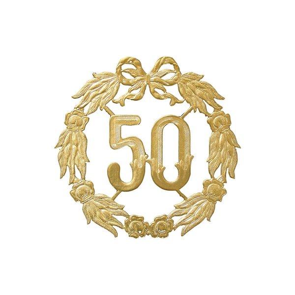 HEYDA Jubiläumskranz 50 gold 18cm