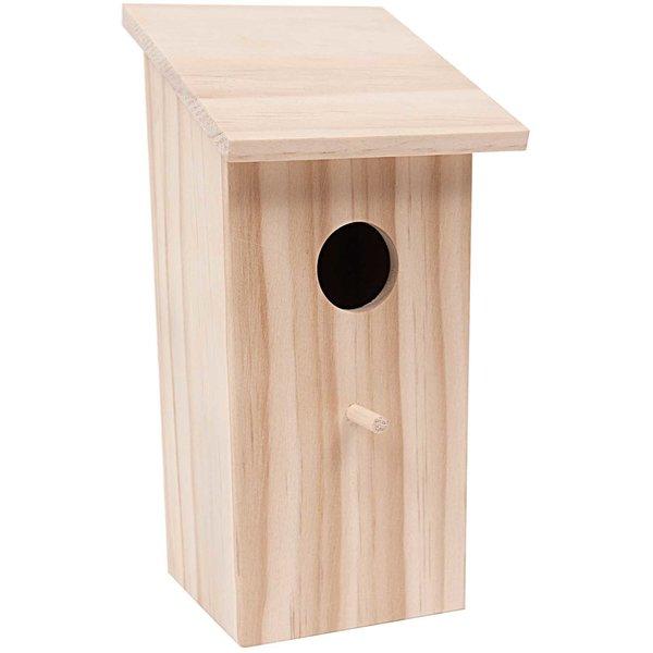 Rico Design Vogelhaus quadratisch 10,4x11x21,5cm