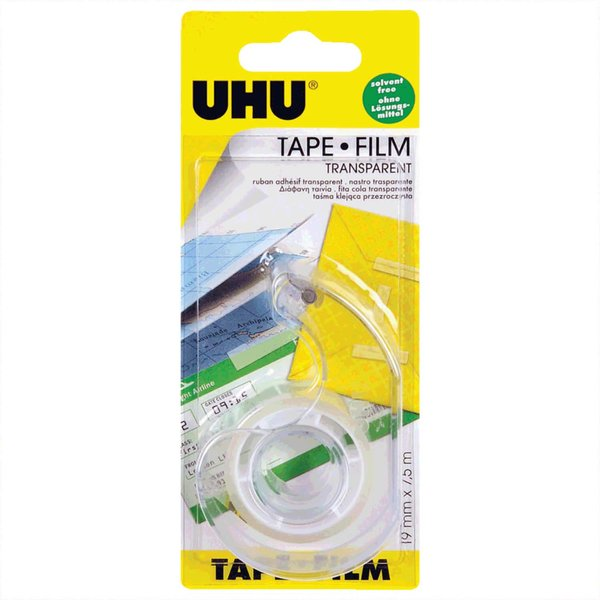 UHU Abroller mit Klebeband transparent 19mm