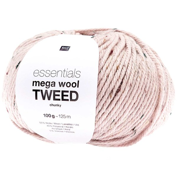 Rico Design Essentials Mega Wool Tweed chunky 100g 125m