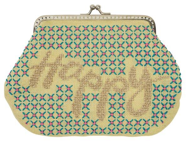 Rico Design Stickpackung Geldbörse Happy 13x18cm