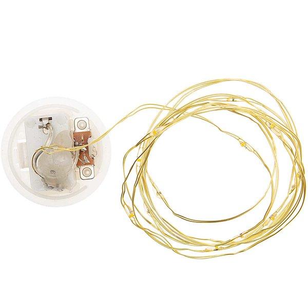 Rico Design LED-Lichterkette für Dekohaube gold 1,50m 15 Lichter