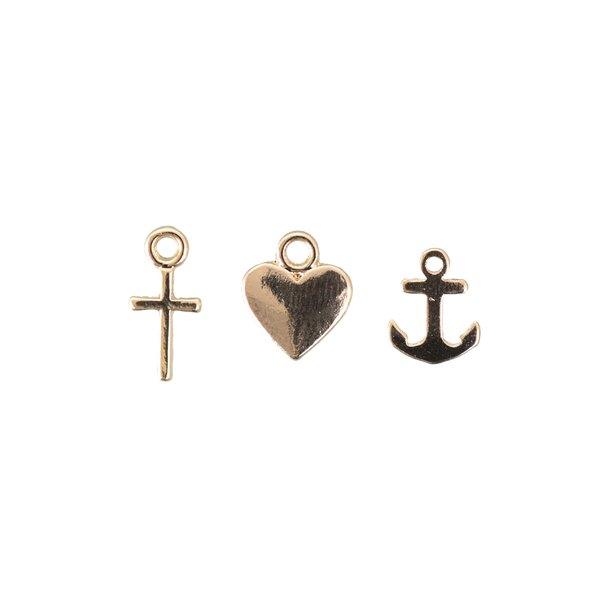 Jewellery Made by Me Anhänger Mix12 gold 3 Stück