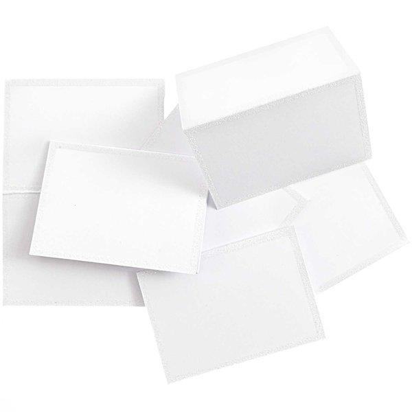 Paper Poetry Tischkarten weiß-glitter 9x12,7cm 6 Stück