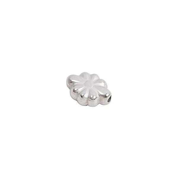 Rico Design 30 Blumen oval silber 11x5mm