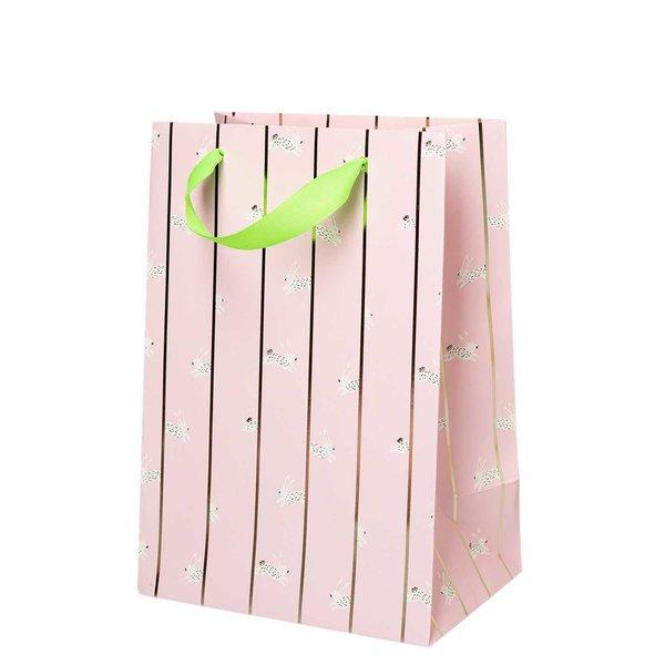 Paper Poetry Geschenktüte Bunny Hop rosa 18x26x12cm