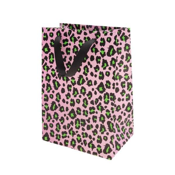 Paper Poetry Geschenktüte Acid Leo rosa-grün 18x26x12cm