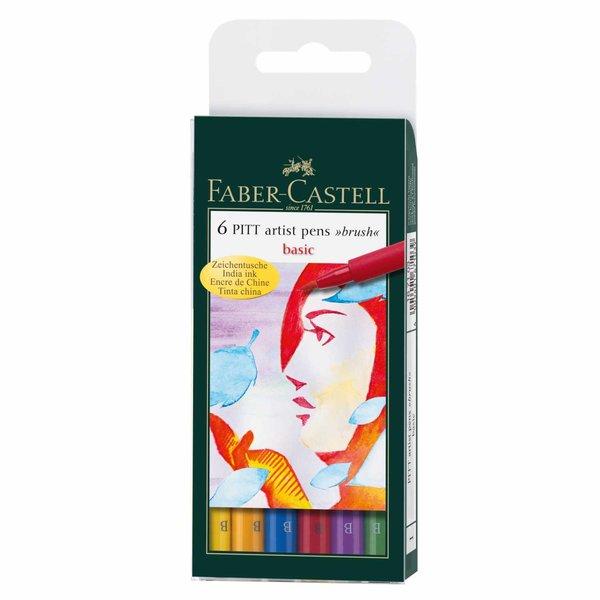 Faber Castell PITT artist pen brush Basic 6er Set