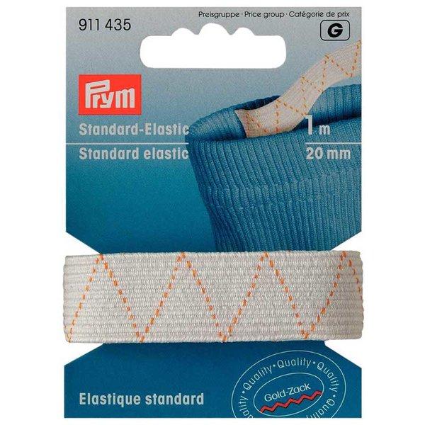 Prym Standard-Elastic Gummi weiß 20mm 1m