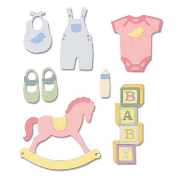 Sizzix Thinlits Die Set New Baby #2 by Lisa Jones