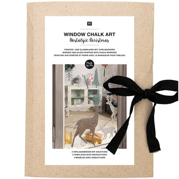 Rico Design Vorlagenmappe Fenster- und Glasmalerei mit Kreidestiften Nostalgic Christmas