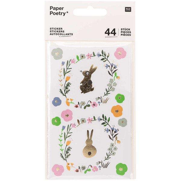 Paper Poetry Sticker Bunny Hop Hasen 44 Stück